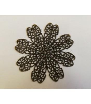 Φιλιγκρί Λουλούδι 8 Πέταλα Μπρονζέ 65mm