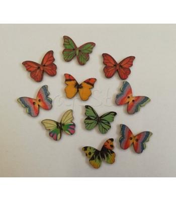 Κουμπιά Πεταλούδες 3cm (10 τεμάχια)