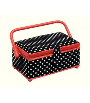Κουτί Ραπτικής Ορθoγώνιο Πουά