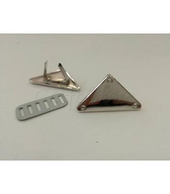 Ταμπελάκι ομορφιάς  Τρίγωνο 3.6cm Νίκελ