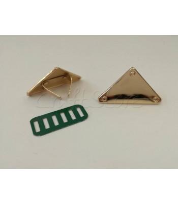 Ταμπελάκι ομορφιάς  Τρίγωνο 3.6cm Χρυσό
