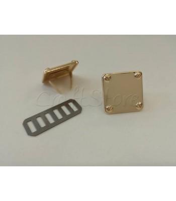Ταμπελάκι ομορφιάς  Τετράγωνο 2x2cm Χρυσό