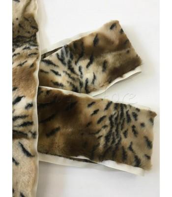 Συνθετική Γούνα 10εκ. με ρέλι Leopard/ ανά μέτρο