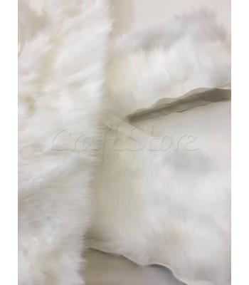 Συνθετική Γούνα 10εκ. με ρέλι Λευκή / ανά μέτρο