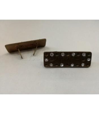 Διακοσμητικό Ταμπελάκι Μπρονζέ Strass 3.5cm