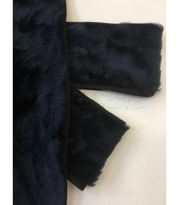 Συνθετική Γούνα 10εκ. με ρέλι Σκούρο Μπλε/ ανά μέτρο