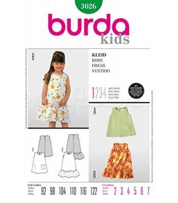 347cd7491a11 Burda Πατρόν Παιδικά Φορέματα 3026