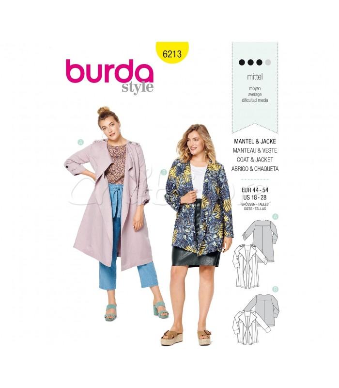 Burda Πατρόν Παλτό και Πανωφόρι  6213