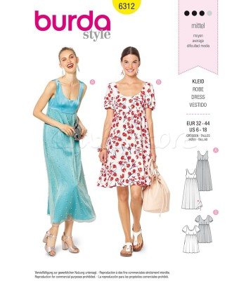 Burda Πατρόν Φορέματα 6312