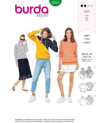 Burda  Πατρόν Μπλούζες Φούτερ 6315