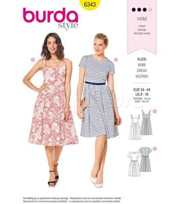 Burda Πατρόν Φορέματα 6343