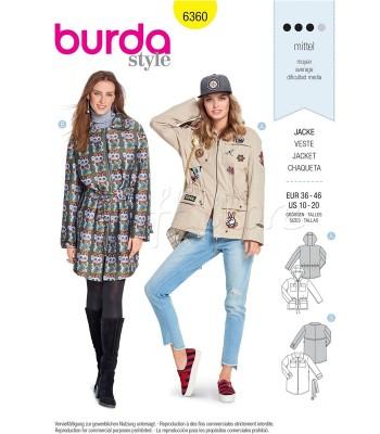 Burda Πατρόν Μπουφάν 6360