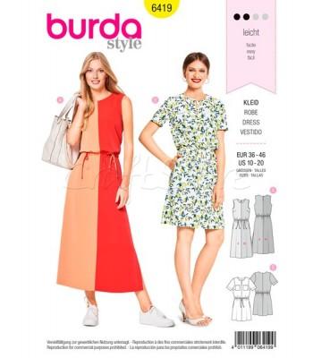 Burda Πατρόν για Φορέματα 6419 9f687dc70b4