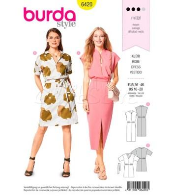 Burda Πατρόν για Φορέματα 6420 b8e0eca90fa