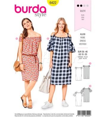 Burda Πατρόν για Φορέματα 6422 9fa8dc44a14