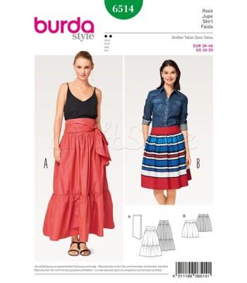 Burda  Πατρόν Φούστες 6514