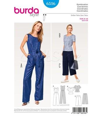 Burda Πατρόν με συνδυασμούς παντελόνας και μπλούζας 6516 ba0a2551f8a