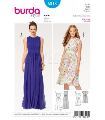 6bc0fd0458b Burda Πατρόν για Φορέματα 6518