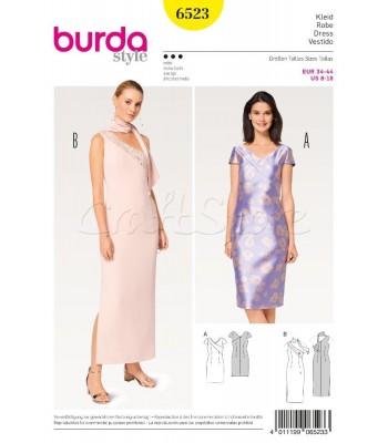 1fa4a957535 Burda Πατρόν για Φορέματα 6523