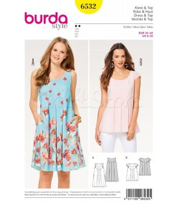 f6454a03757 Burda Πατρόν για Φόρεμα και Μπλούζα 6532