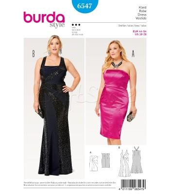 Burda Πατρόν Φορέματα 6547