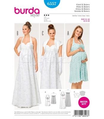 Burda  Πατρόν Φόρεμα και Μπολερό Εγκυμοσύνης 6557