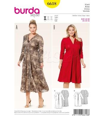 Burda Πατρόν Φορέματα 6618 08719b93243
