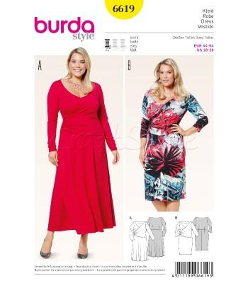Burda Πατρόν Φορέματα 6619