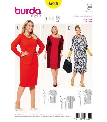 Burda Πατρόν Φορέματα 6620