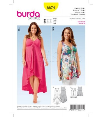 Burda  Πατρόν Φορέματα 6674