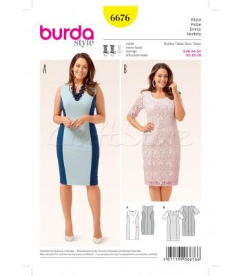 Burda Πατρόν Φορέματα 6676 a52ecbd8dd0