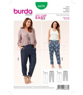 Burda  Πατρόν Παντελόνες 6678