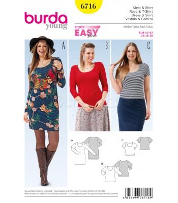 Burda  Πατρόν για Φόρεμα και Μπλούζες 6716