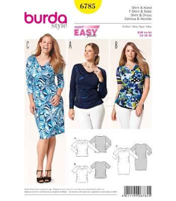 eeca40f58ce Burda Πατρόν για Φόρεμα και Μπλούζες 6785