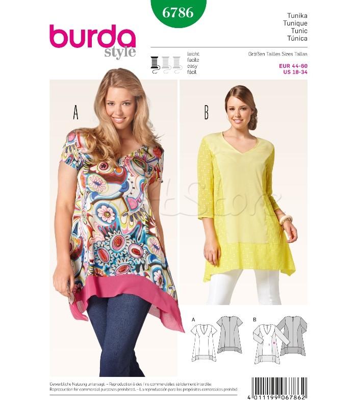 Burda  Πατρόν Τουνίκ 6786