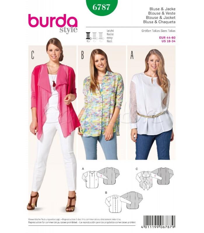 Burda  Πατρόν Μπλούζες 6787