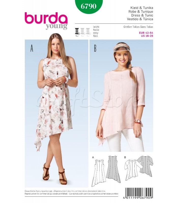 Burda  Πατρόν Μπλούζα & Φόρεμα 6790