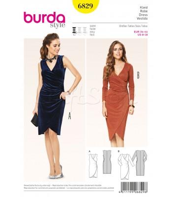 Burda Πατρόν Φορέματα 6829