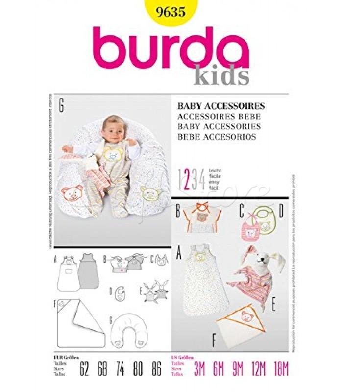 Burda Πατρόν Βρεφικά Αξεσουάρ 9635