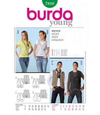 Burda Πατρόν Ανδρικά Γιλέκα 7810