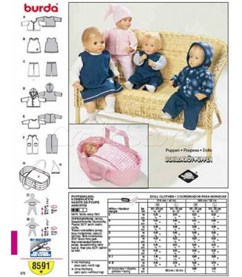 Burda Πατρόν Ρούχα Για Κούκλες 8591 dd7781f26ff