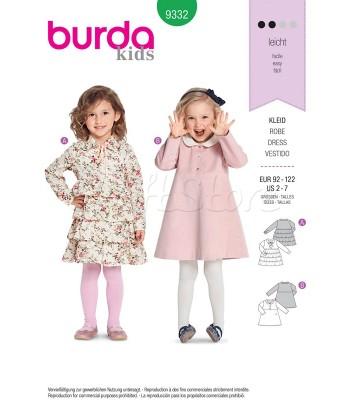 Burda Πατρόν Κοριτσίστικα Φορέματα 9332