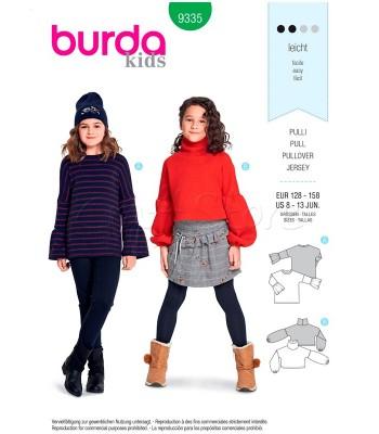Burda Πατρόν Κοριτσίστικα Πουλόβερ 9335