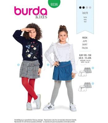 Burda Πατρόν Κοριτσίστικες Φούστες 9336