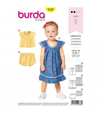 b228fc576d4 Burda Πατρόν Βρεφικά Ρούχα 9338