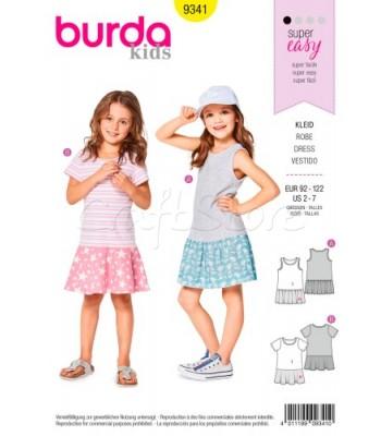 3fe7051099d Burda Πατρόν Παιδικά Φορέματα 9341