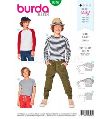Burda Πατρόν Παιδικά Μπλουζάκια 9346