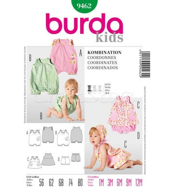 f8838e143f8 Burda Πατρόν Βρεφικά Ρούχα 9462
