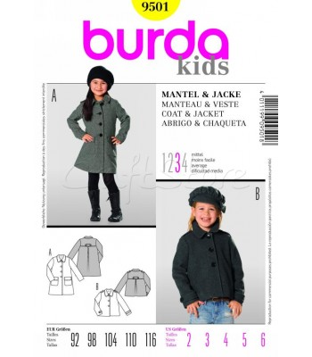 04c05ecd1cb Burda Πατρόν Παιδική Ζακέτα και Παλτό 9501