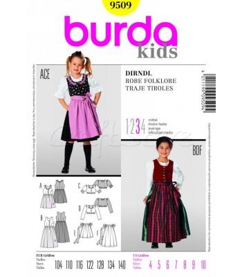 Burda Πατρόν Παιδικά Φολκλόρ 9509